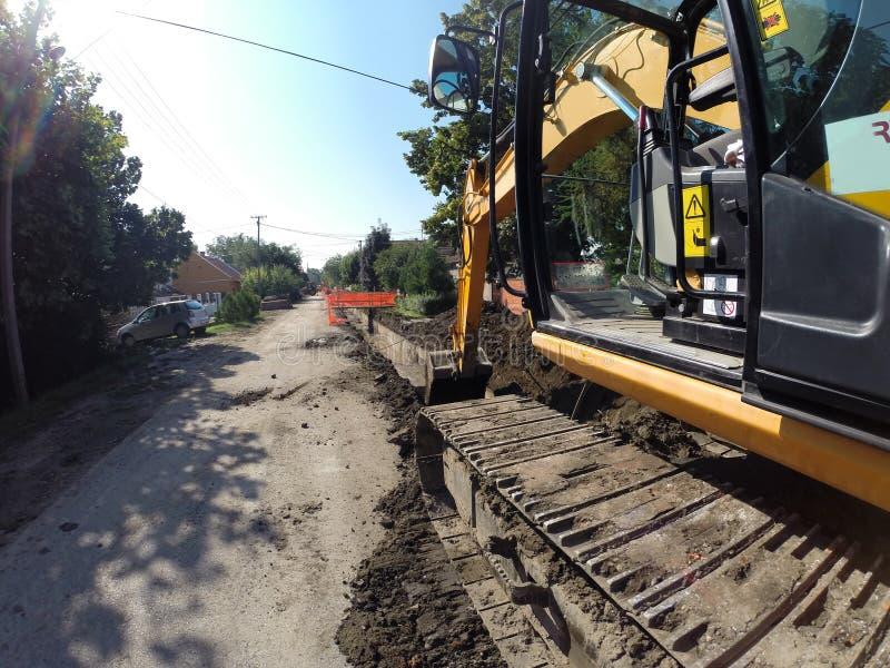 Excavator Digging Deep stock image