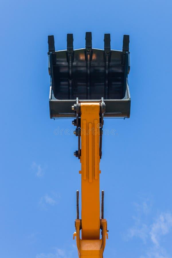 Free Excavator Earth Mover Steel Bucket Scoop Blue Sky Royalty Free Stock Photo - 139552495