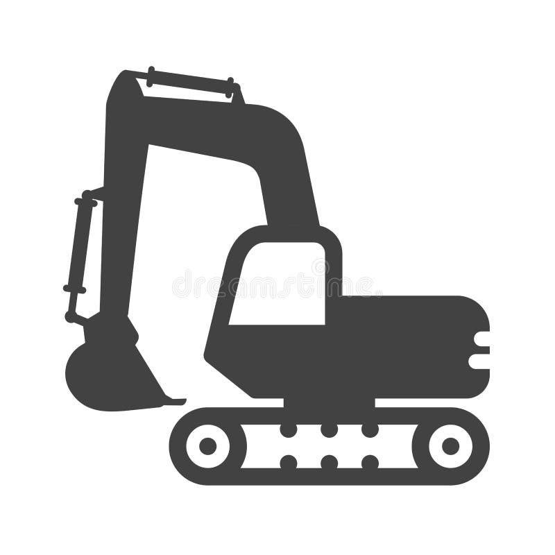 Excavator royalty free illustration