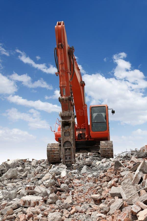 Download Excavator With Hammer stock image. Image of excavate, breaking - 9141559