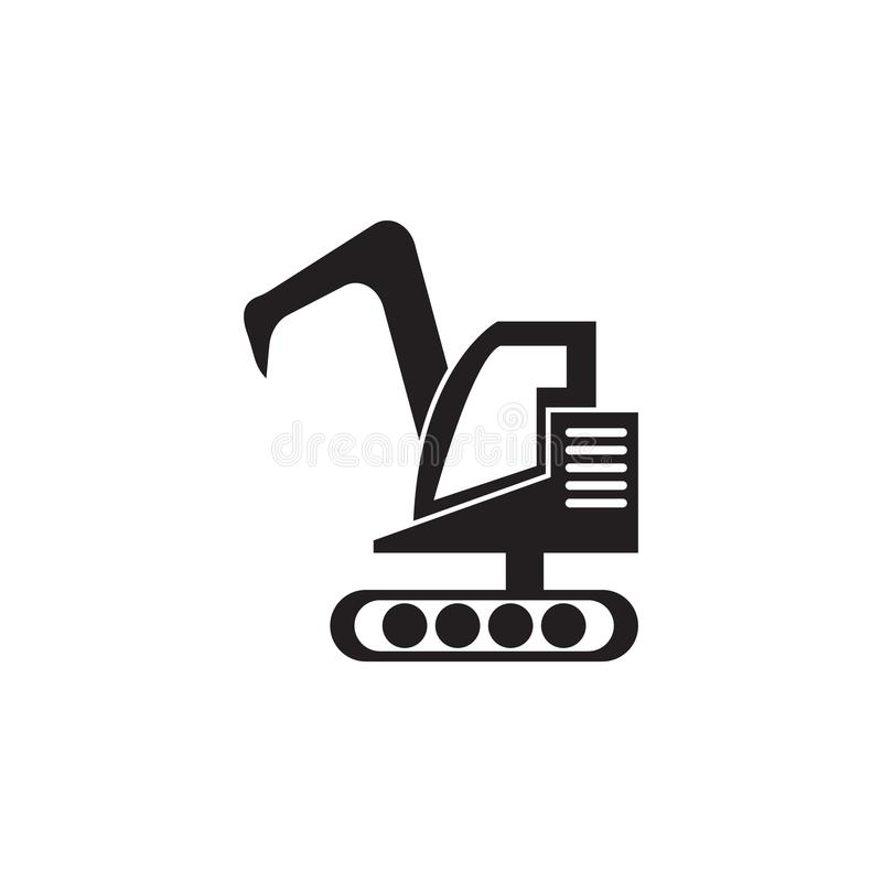 Excavator icon. Elements of construction tools icon. Premium quality graphic design. Signs, outline symbols collection icon for we stock illustration