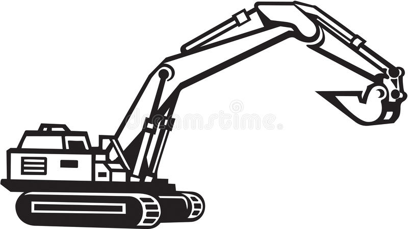 Excavator Illustration vector illustration