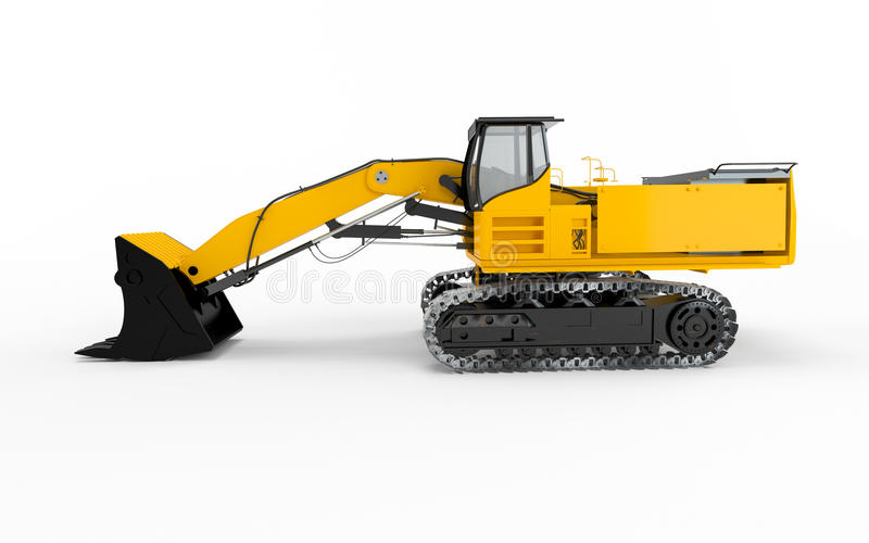 Excavator. Isolated on white background vector illustration
