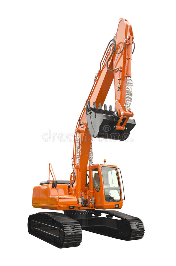Excavator. Isolated on a white background royalty free stock photos
