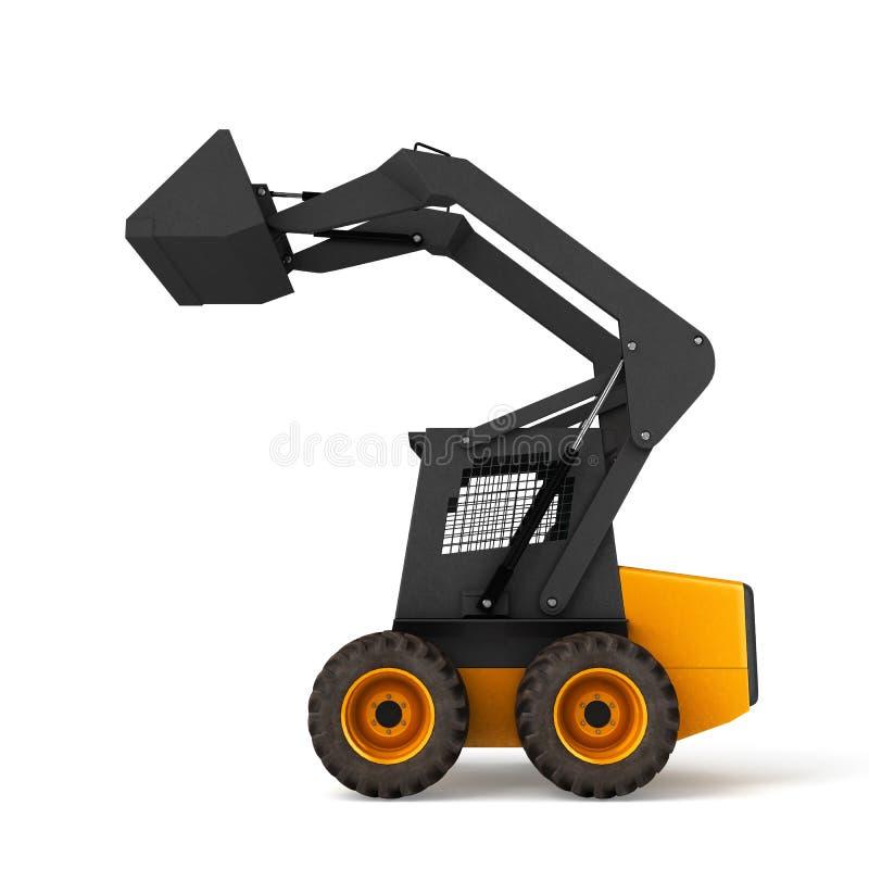 Excavator isolated on white background 3D illustration. Excavator isolated on white background 3D stock illustration