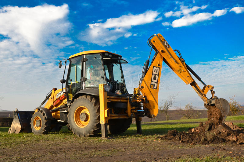 Excavator JCB 3CX SITEMASTER stock photos