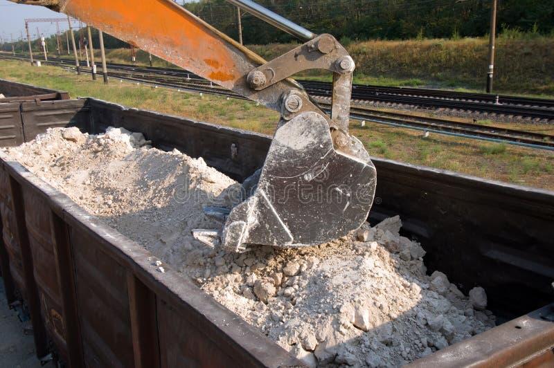 Download Excavator loads gravel stock photo. Image of heap, power - 18117424