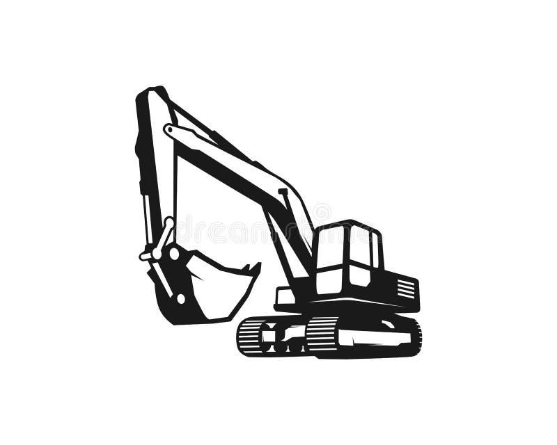 Excavator logo template vector. Heavy equipment logo vector for construction company. Creative excavator illustration for. Logo template vector illustration