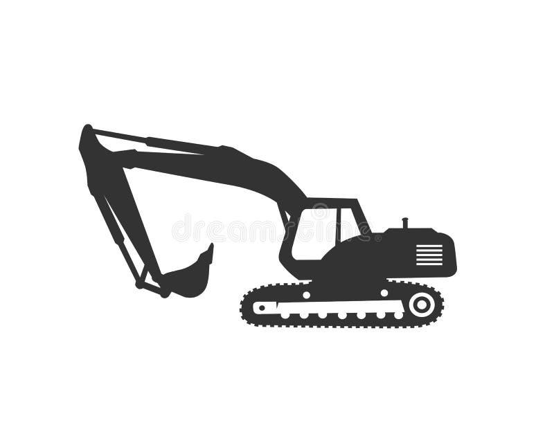 Excavator logo template vector. Heavy equipment logo vector for construction company. Creative excavator illustration for logo. Template vector illustration