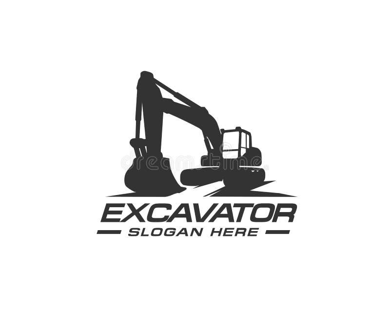 Excavator logo template vector. Heavy equipment logo vector for construction company. Creative excavator illustration for logo. Template stock illustration