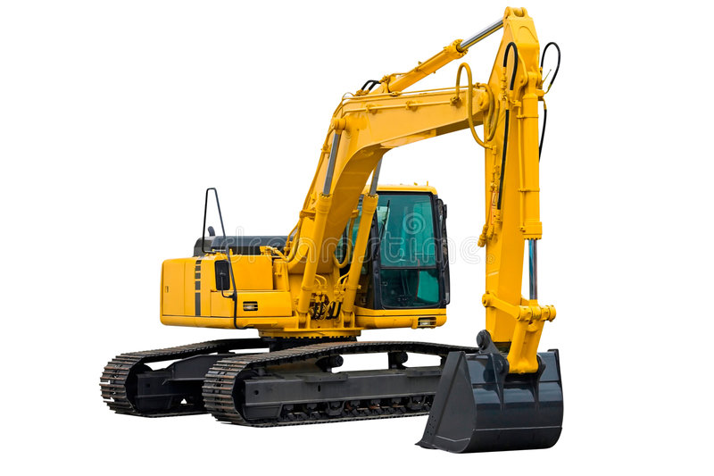Excavator with Long Arm royalty free stock image
