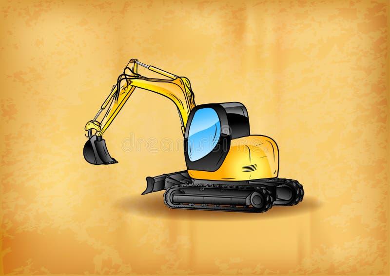 Download Excavator stock vector. Image of power, heavy, digger - 36235025