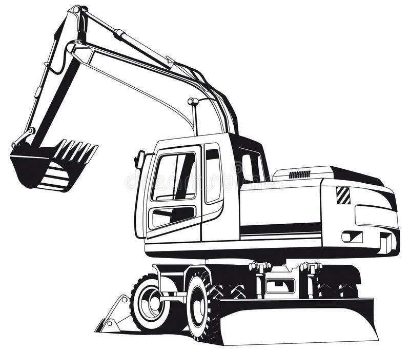 Download Excavator Outline Stock Image - Image: 16289381