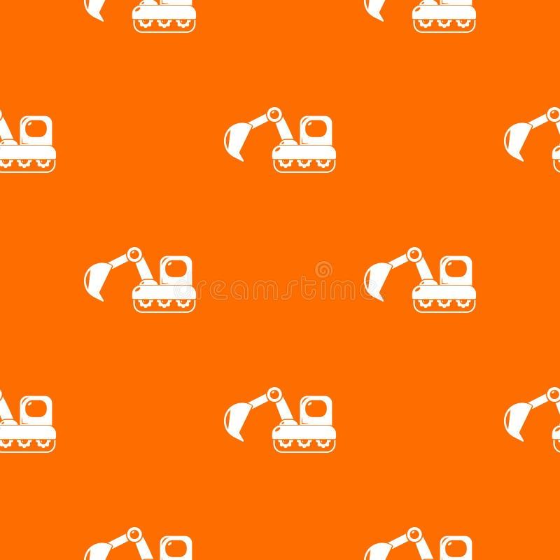 Excavator pattern vector orange. For any web design best vector illustration