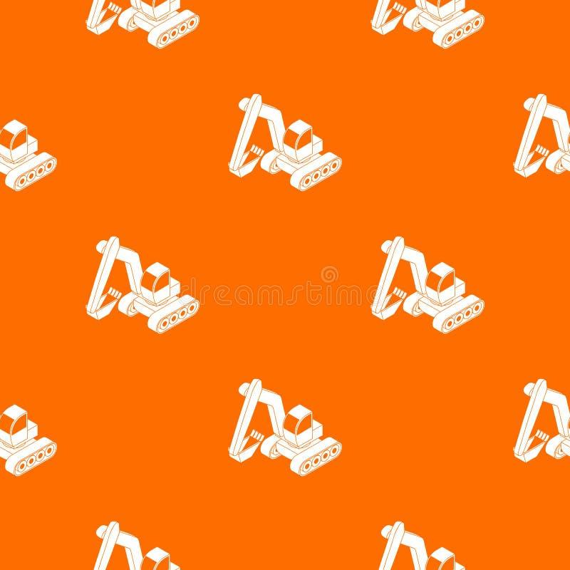 Excavator pattern vector orange. For any web design best royalty free illustration