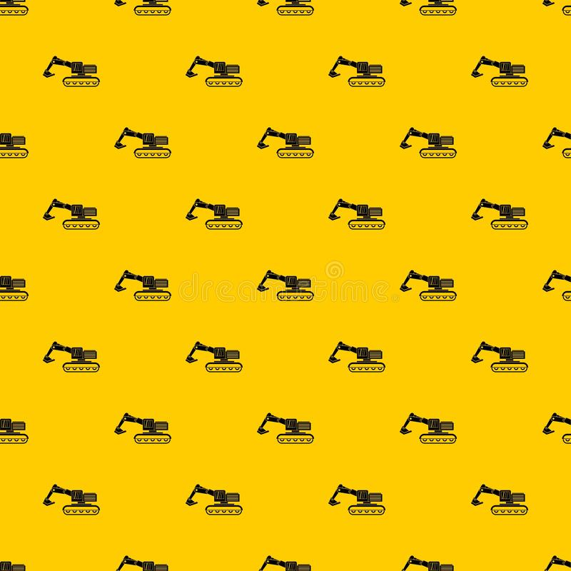 Excavator pattern vector. Excavator pattern seamless vector repeat geometric yellow for any design stock illustration