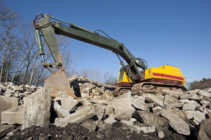 Excavator or shovel stock photo