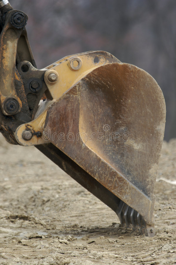 Excavator Shovel. At Construction Site royalty free stock photos