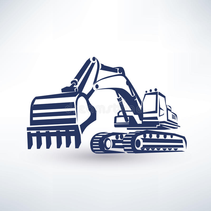 Excavator symbol royalty free illustration