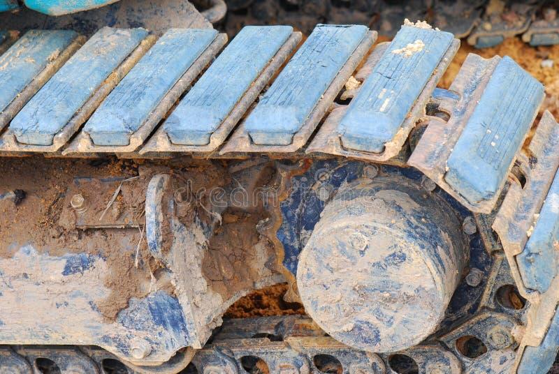 Excavator Tracks Stock Photo