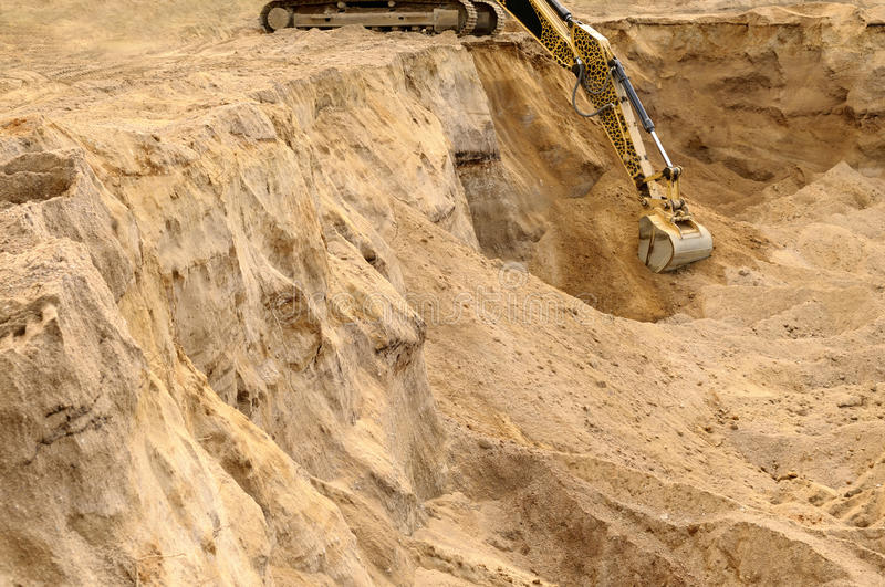 Excavator Trenching. Royalty Free Stock Photography