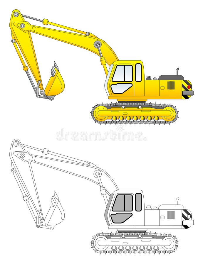 Excavator vector illustration stock illustration