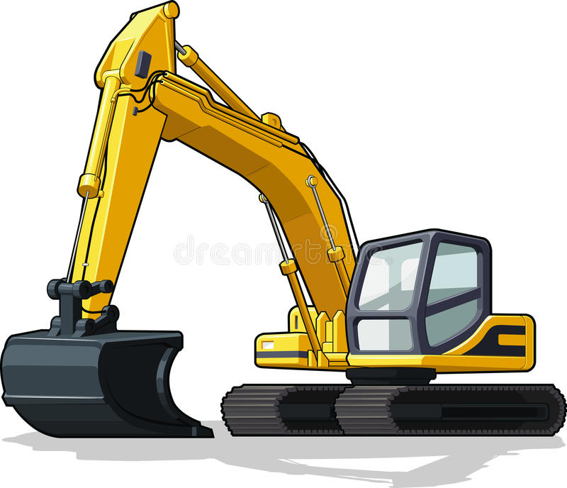 Excavator. A vector image of an isolated excavator. Available as a Vector in EPS8 format that can be scaled to any size without loss of quality. Elements could royalty free illustration