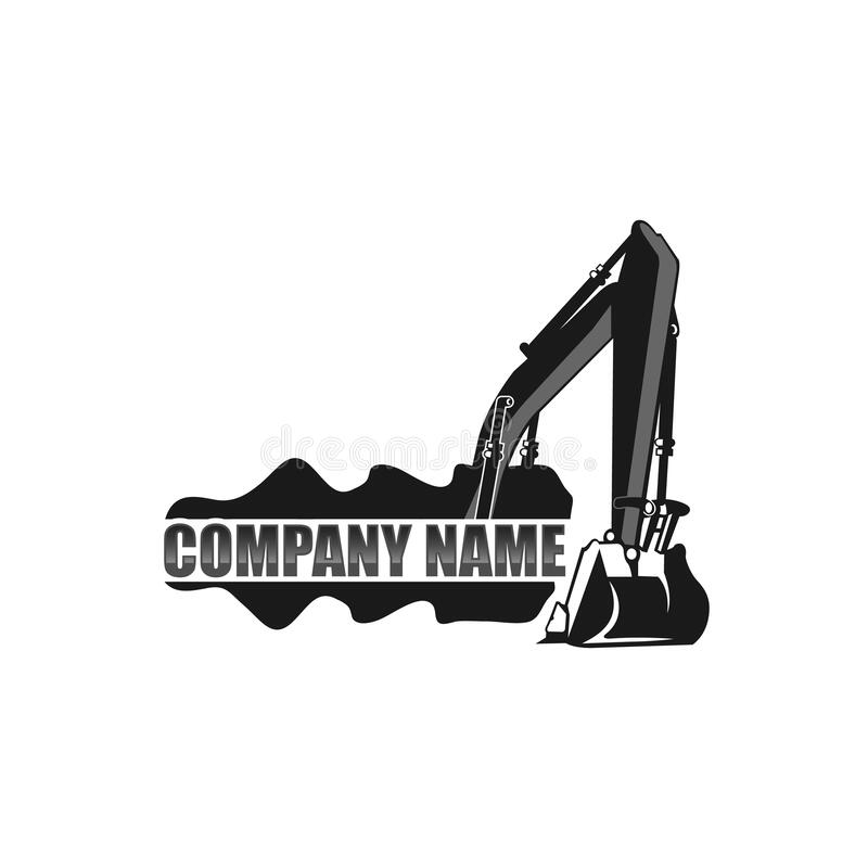 Free Excavator Vector Logo Template. Excavator Logo. Excavator Isolated. Digger, Construction, Backhoe, Construction Business Icon. Royalty Free Stock Photography - 189903217