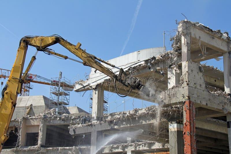 Excavator work royalty free stock photo