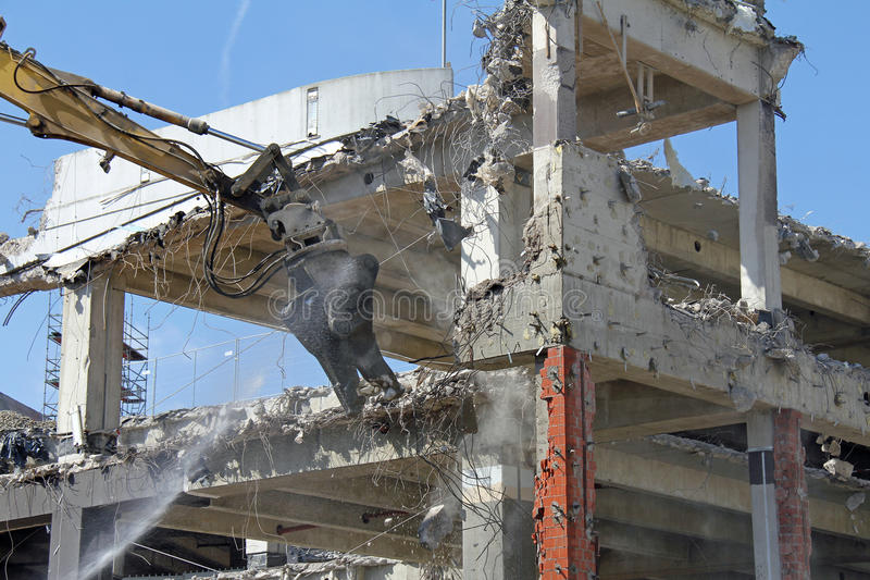 Excavator work stock images