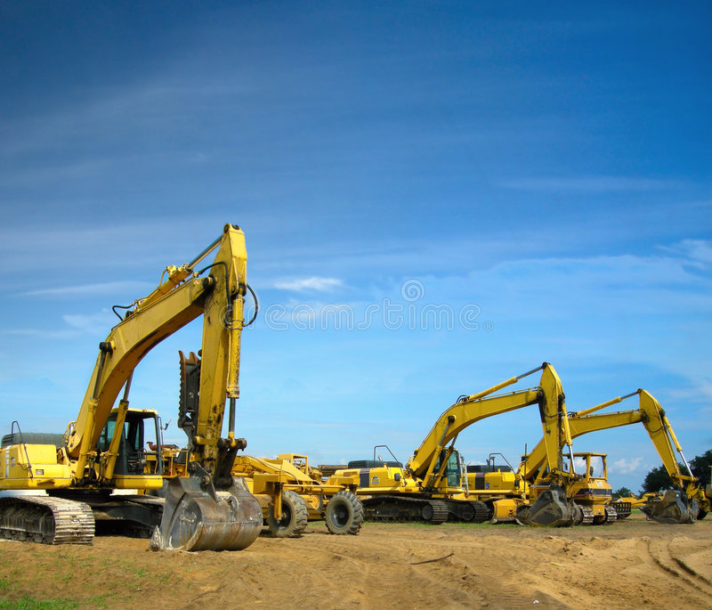 Download Excavators stock image. Image of build, excavators, dirt - 3707245