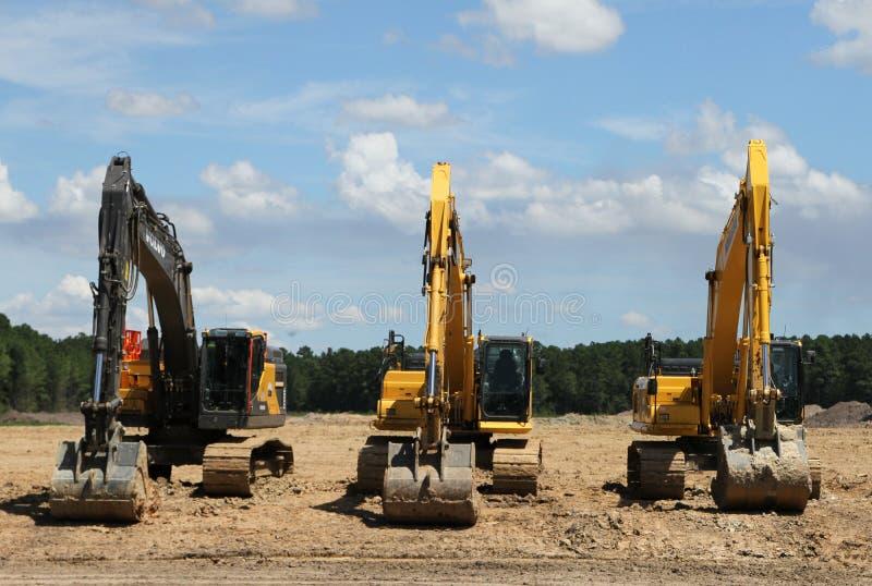 excavators fotos de stock royalty free