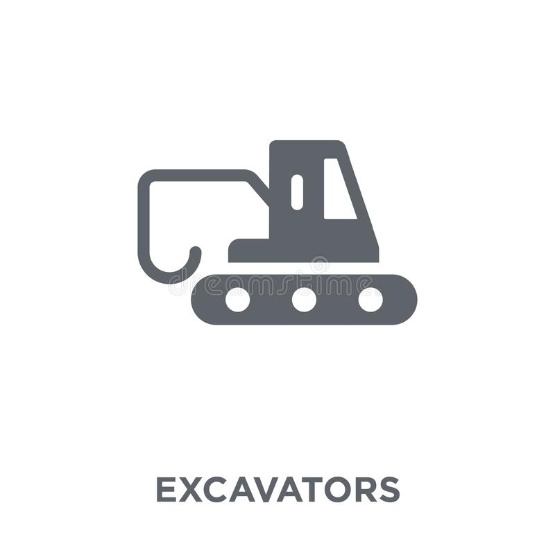 Excavators icon from Transportation collection. Excavators icon. Excavators design concept from Transportation collection. Simple element vector illustration on royalty free illustration