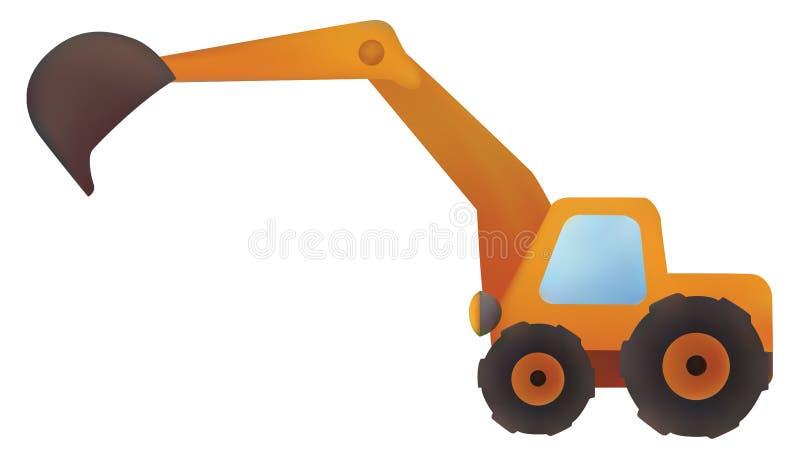 Excavators. Illustration the excavators on a white background vector illustration