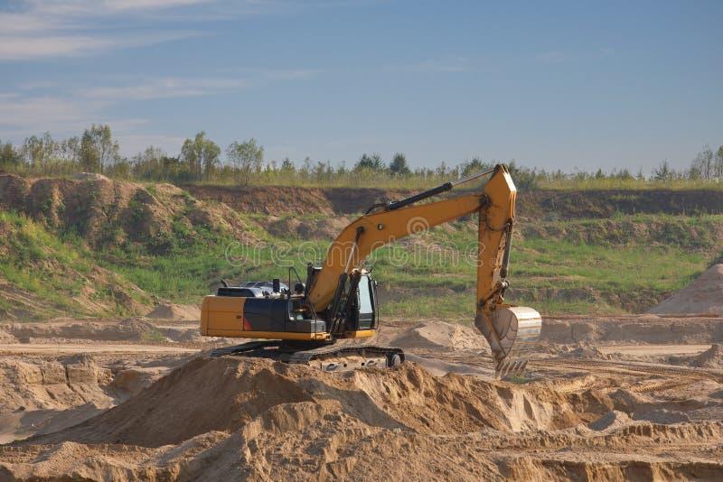 Excavators work stock photo