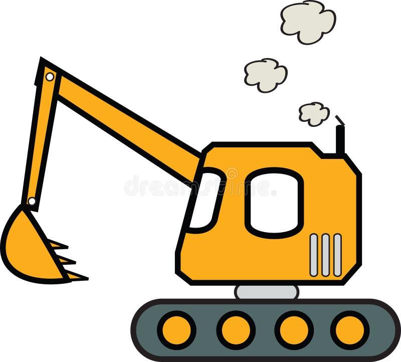 Excavatrice illustration stock