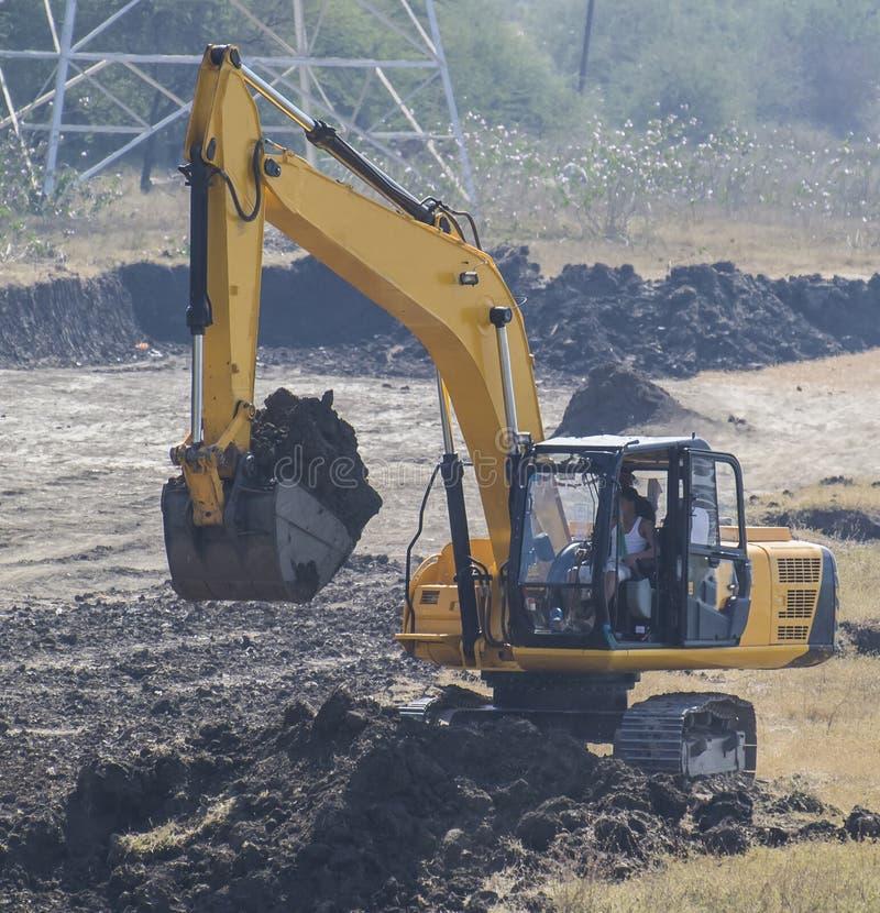 Excavatrice Backhoe Digger Loader image stock