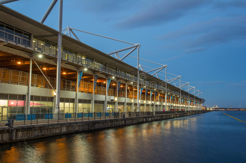 Excel Centre, Royal Victoria Docks royalty free stock photos