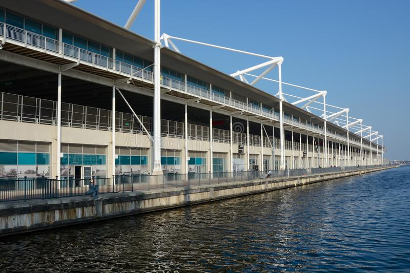 Excel Centre w Docklands, Londyn, Anglia fotografia royalty free