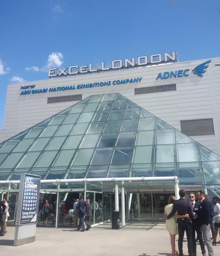 Excel london. Excel centre dock lands exhibition royalty free stock photos