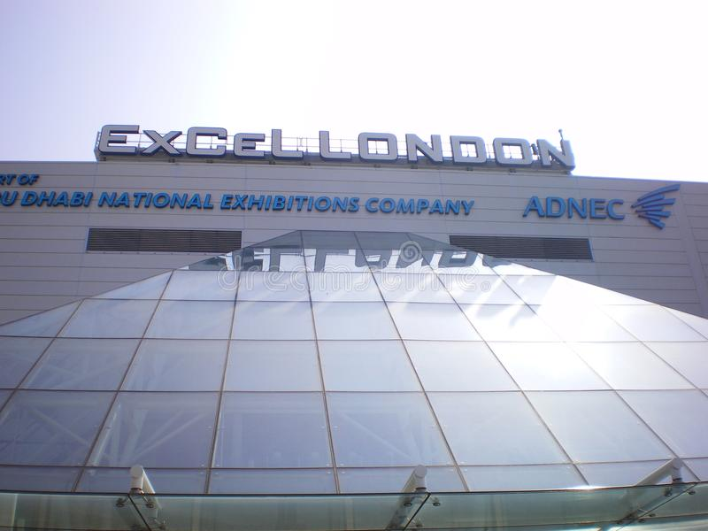 Excel in London largest exhibition centre. A view excel London Docklands UK s largest business exhibition centre were the LIWF was held in July stock photos