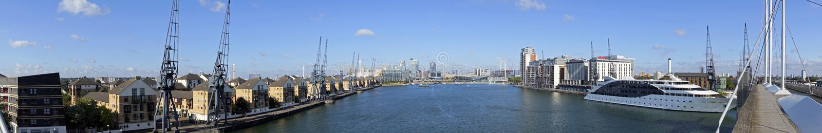 Excel Marina 180 degree panoramic royalty free stock photos