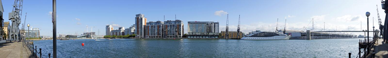 Excel-panoramische Jachthaven 180 graad stock foto