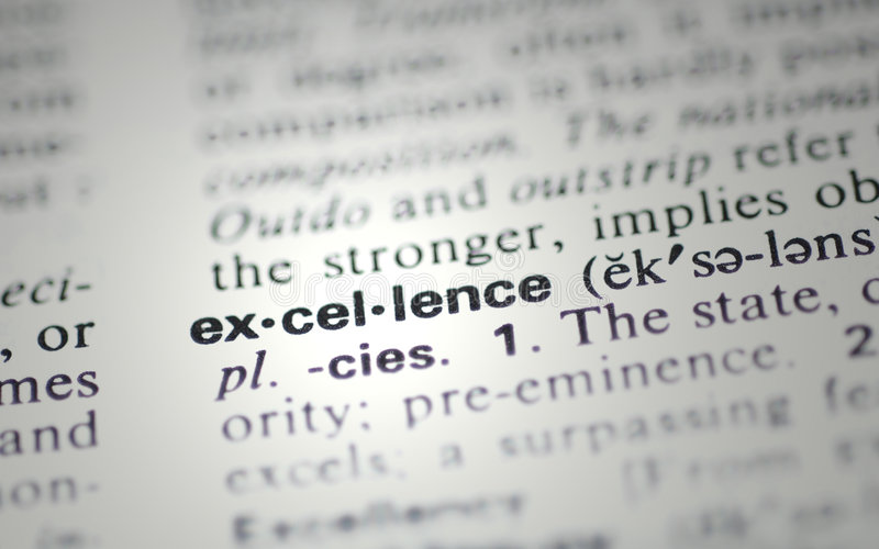 Excellence stock images