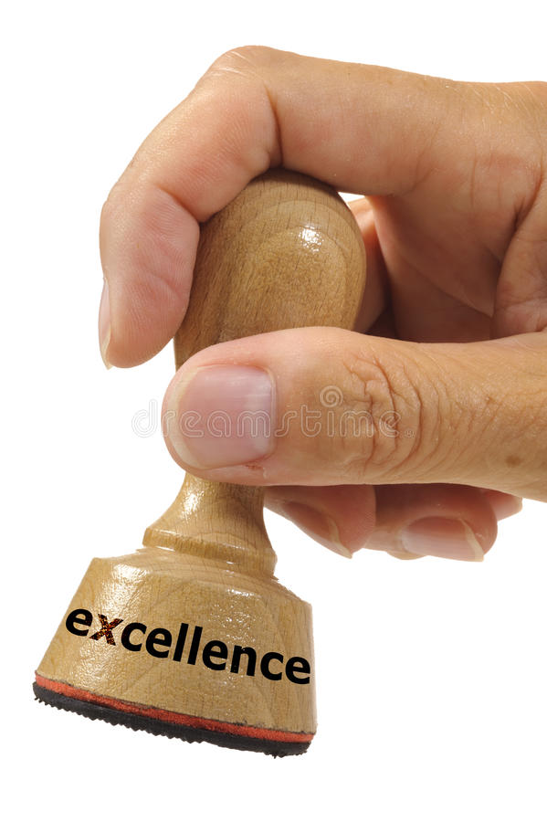 Excellence. Rubber stamp marked with excellence royalty free stock image