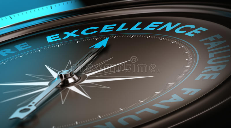 Excellence Concept, Quality Service stock illustration