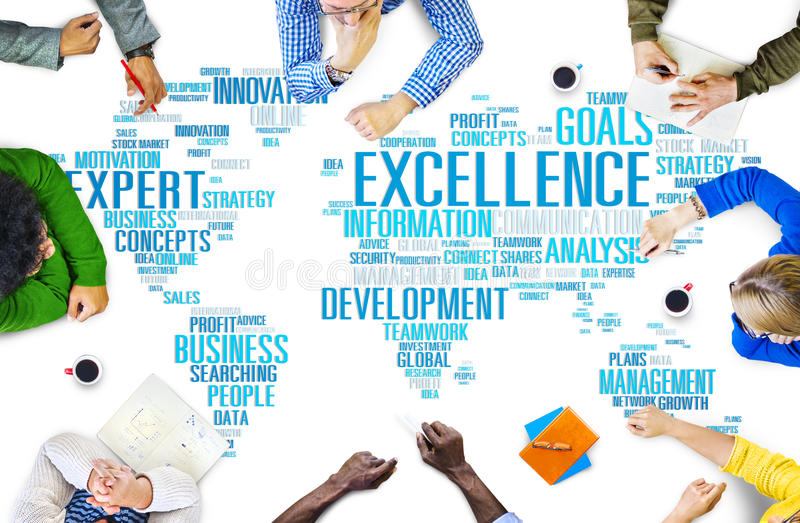 Excellence Expertise Perfection Global Growth Concept.  royalty free stock photos