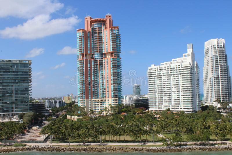 Excellent architectural building at South Miami Resorts stock photography