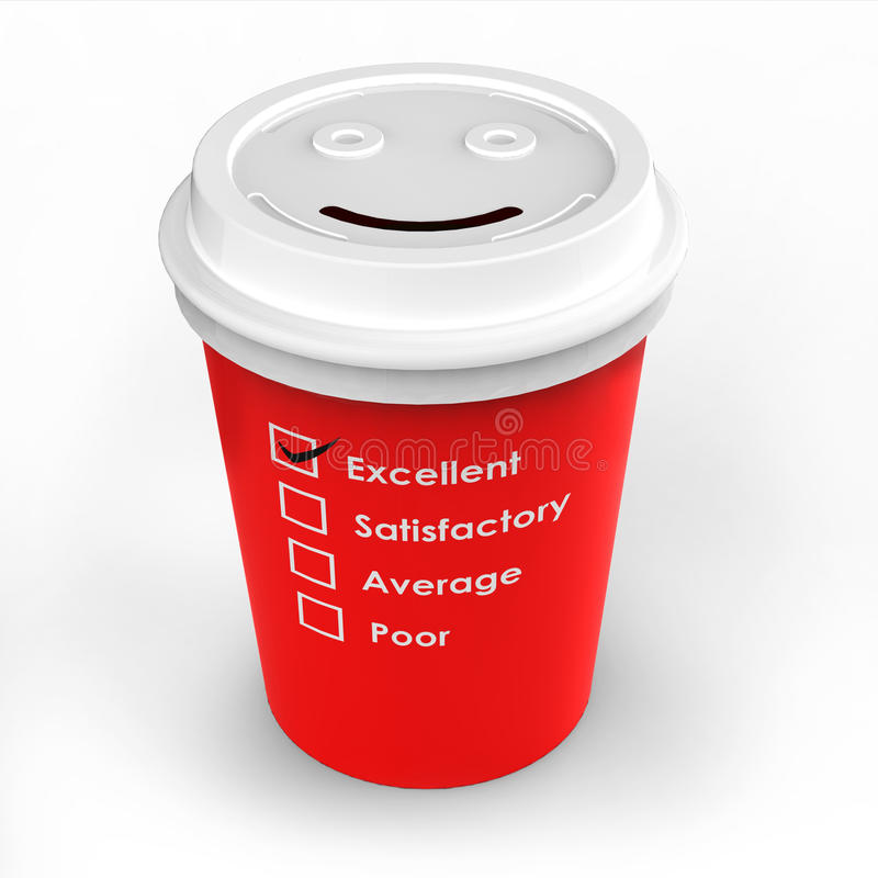 Excellent coffee cup royalty free stock images