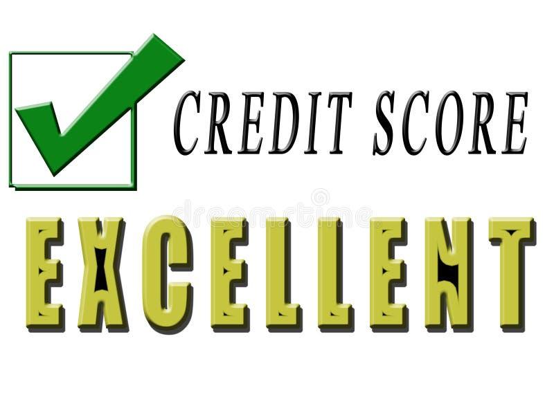 Excellent Credit stock illustration